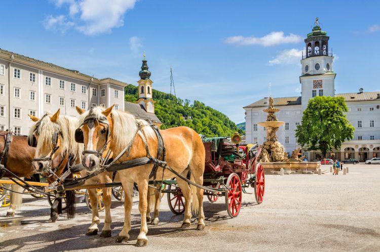 Place de la Résidence à Salzbourg